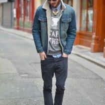 porter veste en jean homme