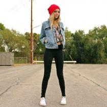 quoi mettre avec une veste en jean