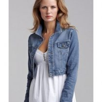 veste courte en jean femme