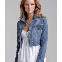 veste courte jean femme