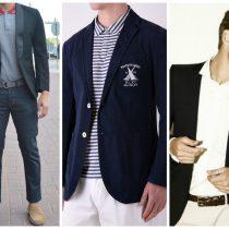 veste de costume avec jean