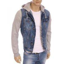 veste en jean a capuche