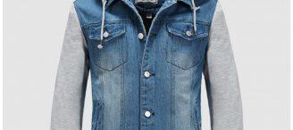 Veste en jean a capuche homme