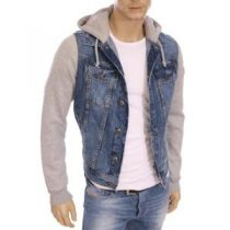 veste en jean avec capuche