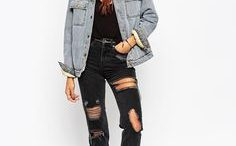 Veste en jean avec fourrure
