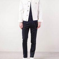 veste en jean blanc homme