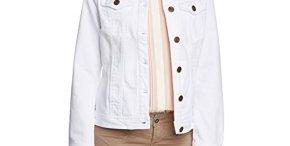 Veste en jean blanche femme