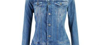 Veste en jean cintrée femme