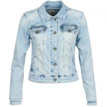 veste en jean clair femme
