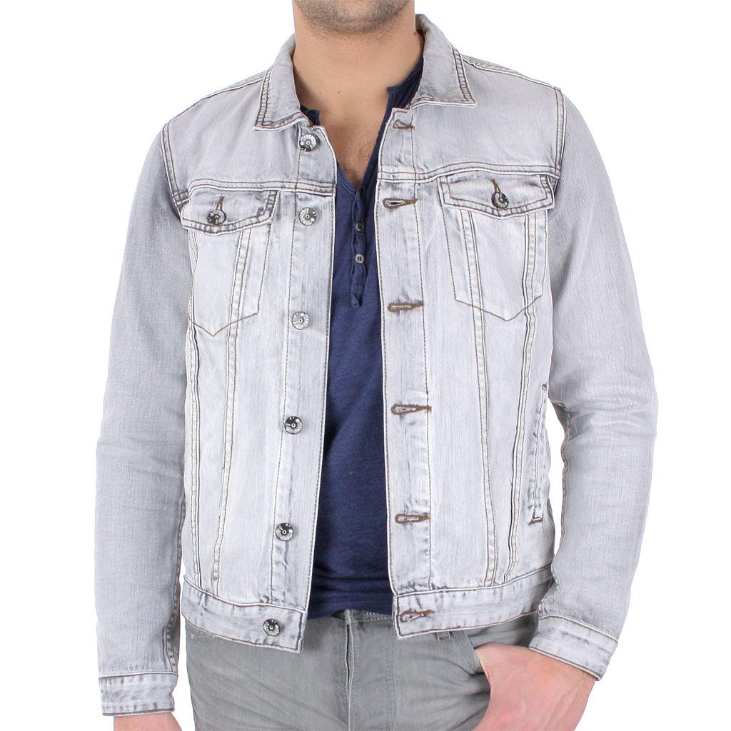 veste en jean clair homme