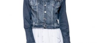 Veste en jean courte femme
