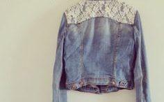 Veste en jean customisée