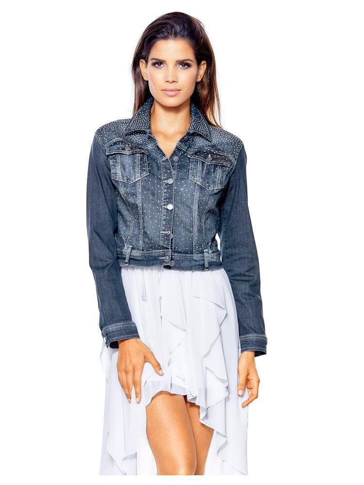 veste en jean femme courte