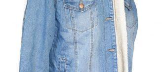 Veste en jean fourrée femme