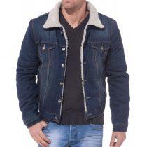 veste en jean fourrée homme