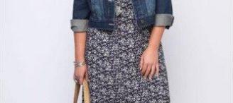 Veste en jean grande taille femme