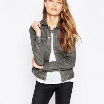 veste en jean grise femme