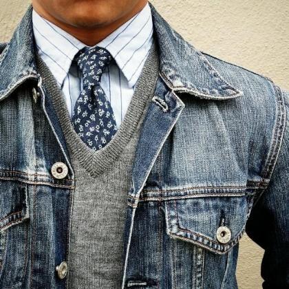 veste en jean hiver homme