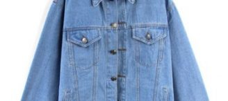 Veste en jean large femme