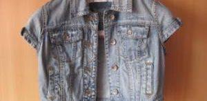 Veste en jean manche courte