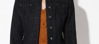 Veste en jean noir femme