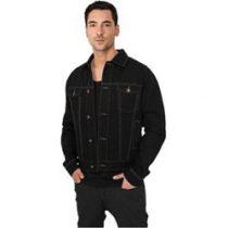 veste en jean noir homme