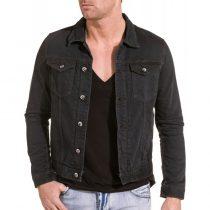 veste en jean noire