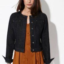 veste en jean noire femme