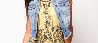 Veste en jean sans manche femme pas cher