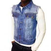 veste en jean sans manche pour homme
