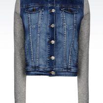 veste jean capuche femme
