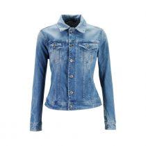 veste jean cintrée femme