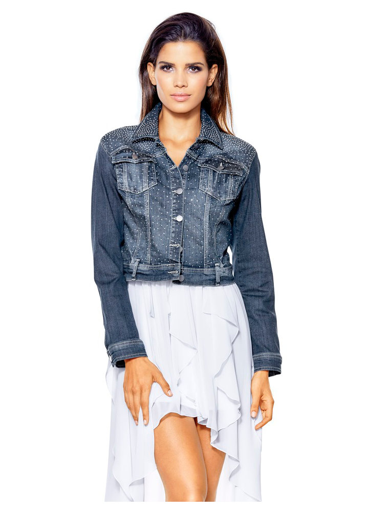 Veste jean femme courte