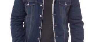 Veste jean fourrée