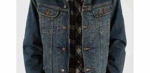 Veste jean fourrée homme