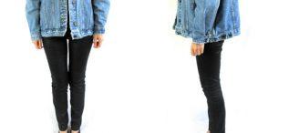 Veste jean large