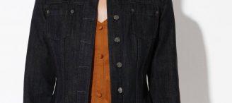 Veste jean noire femme