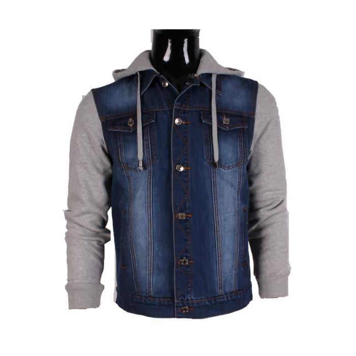 veste jean sweat