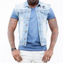 veste jeans sans manche homme