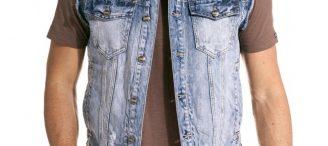 Veste sans manche jean